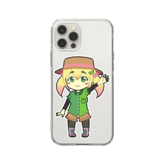 ずんだSUZURI店のずんだちゃんスマホケース Soft clear smartphone cases