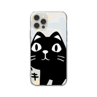 CT120 やみねこ、ろっぽのドキドキA Soft clear smartphone cases