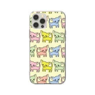 ゆるチワワ(ポップ) Soft clear smartphone cases
