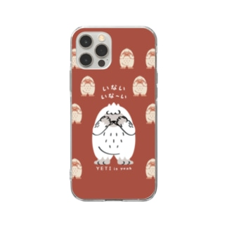 CT121 YETI is yeah*いないいないばぁ*bgC Soft Clear Smartphone Case