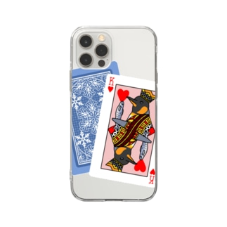 KING(濃色生地デザイン) Soft clear smartphone cases