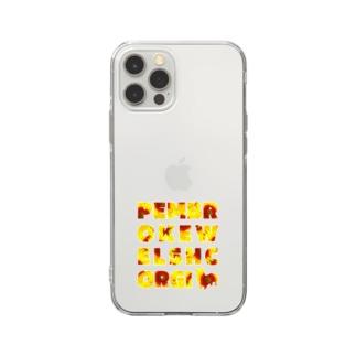コーギー ひまわり Soft clear smartphone cases