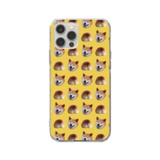 イヌオシリ(yellow ver) Soft clear smartphone cases