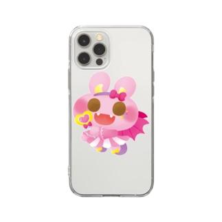 ハロウィンうさぎ Soft clear smartphone cases