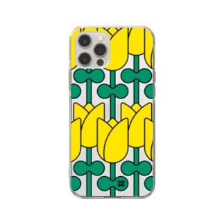 tulip PATTERN Soft clear smartphone cases