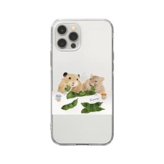 【KAMAP】枝豆とハムスター兄弟 Soft clear smartphone cases