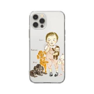 リクエスト/コオニとおともだち Soft clear smartphone cases