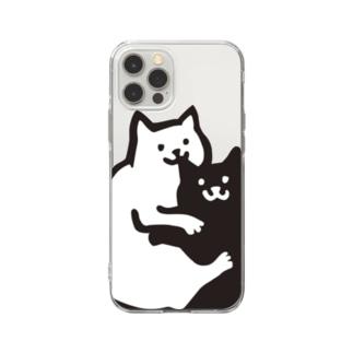 おみみかじりねこ Soft clear smartphone cases