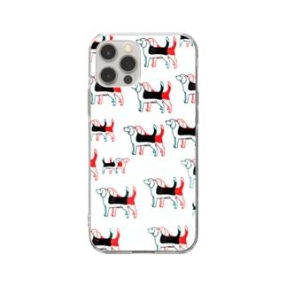 ビーグル いっぱい Soft clear smartphone cases
