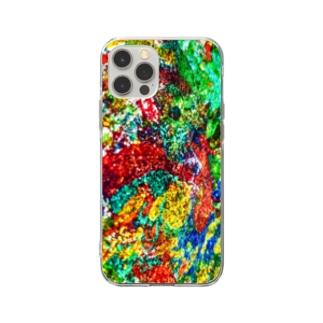 絵画の花 Soft clear smartphone cases