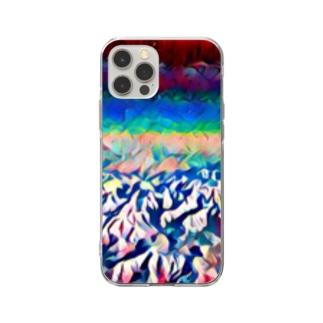 山と空 Soft clear smartphone cases