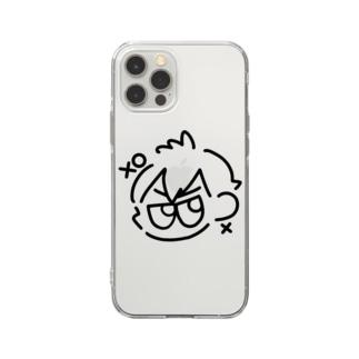 ばつまるくん Soft clear smartphone cases