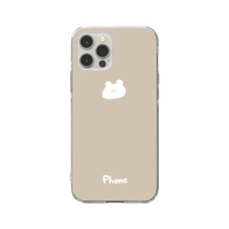 くまさん Soft clear smartphone cases