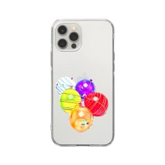 昭和の思い出『ヨーヨー釣り』 Soft clear smartphone cases