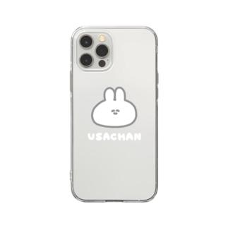 ナポリのSUZURIのUSACHAN Soft clear smartphone cases