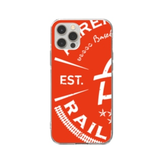 Railroads エンブレムロゴ 赤_グランジ Soft Clear Smartphone Case