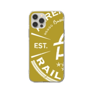 Railroads エンブレムロゴ 黄色_グランジ Soft Clear Smartphone Case