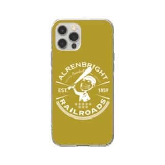 Railroads お猿さんエンブレム 黄色 Soft Clear Smartphone Case