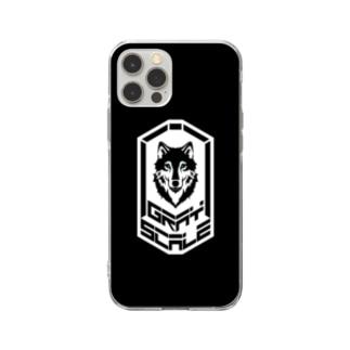 GRAY SCALE エンブレム Soft Clear Smartphone Case