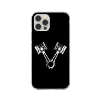 エンジンピストン ~V型に揃えて~ Soft Clear Smartphone Case