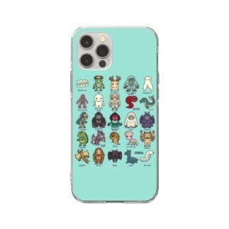 2.5等身UMA図鑑 スマホケース (ミント) Soft Clear Smartphone Case