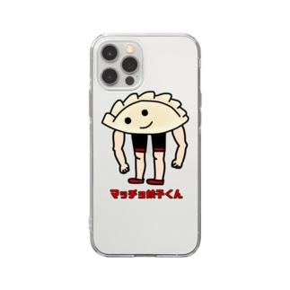 すとろべりーガムFactoryのマッチョアスリート餃子くん・改 Soft Clear Smartphone Case