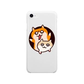 異空間から飛び出るハムたち Soft clear smartphone cases