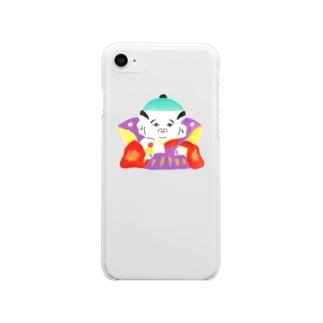 ヘロシナキャメラ売り場の福助 Soft clear smartphone cases