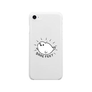 BARE FEET/猫田博人の主張のすごいアザラシ・クリアケース Soft clear smartphone cases