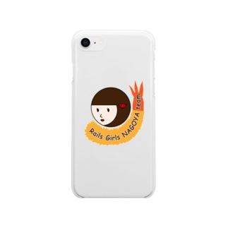 RailsGirlsNagoyaチームマスコットグッズ Soft clear smartphone cases