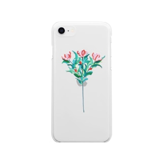 flower3 Soft clear smartphone cases
