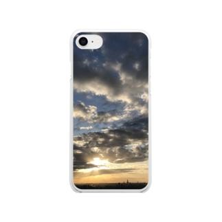ある霜月の夕暮れ Soft clear smartphone cases