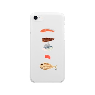 きりみ 魚 Soft clear smartphone cases