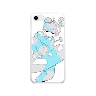 きのこのほうしくん/水灰 Soft clear smartphone cases