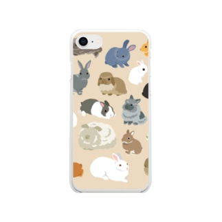BUNNIES無線 Soft clear smartphone cases