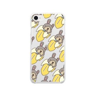 バナナぎっしりゆきち Soft clear smartphone cases