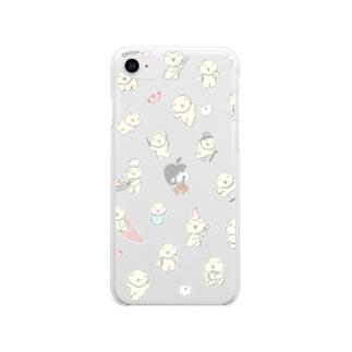 もっさりもさお Soft clear smartphone cases