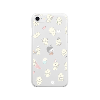 じゅんのもっさりもさお Soft clear smartphone cases