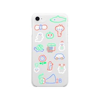 桜のネオン iPhone7/8 Soft clear smartphone cases