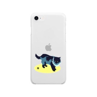 たてがみのある猫 Soft clear smartphone cases