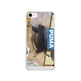 """They call me""""sambo""""のねこ Soft clear smartphone cases"""