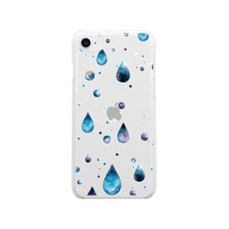 星空の雫 Soft clear smartphone cases