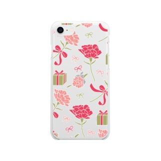 ハハノヒ Soft clear smartphone cases