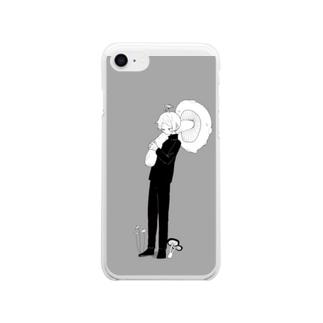 きなりきのこ Soft clear smartphone cases