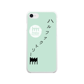 halufactoryロゴデザインスマホケース Soft clear smartphone cases