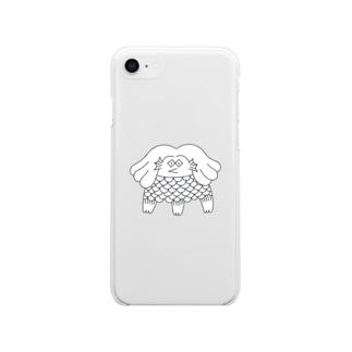アマビエの写し Soft clear smartphone cases
