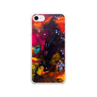 狐神社のFd Soft clear smartphone cases