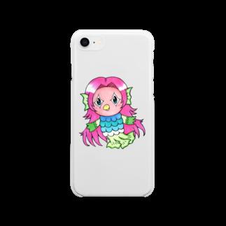 あおつるのアマビエ様 Soft clear smartphone cases