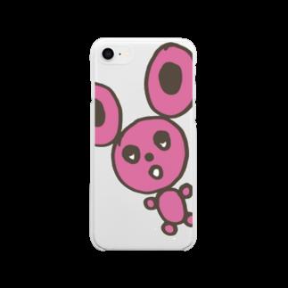 櫻田宗久のまるうさぎ Soft clear smartphone cases