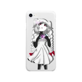 Merry Sheepのネオンハートのトゥィ Soft clear smartphone cases